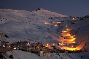 esquí nocturno sierra nevada