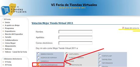 sorteo gratis vota por centraldereservas.com