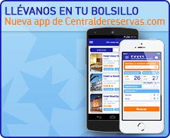 Llévanos en tu bolsillo. Nueva App de Centraldereservas.com