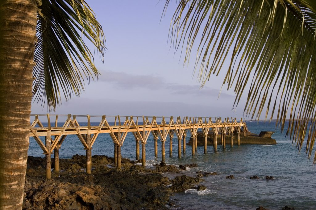 Footbridge over the ocean.