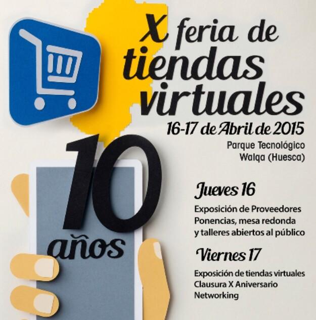 Cartel Feria de  Tiendas Virtuales 2015