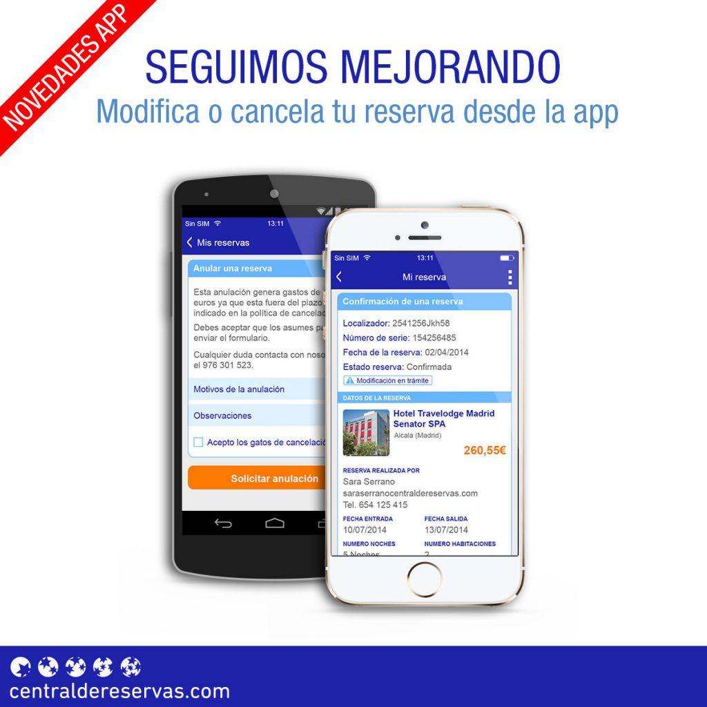 Actualizamos la app de Centraldereservas.com