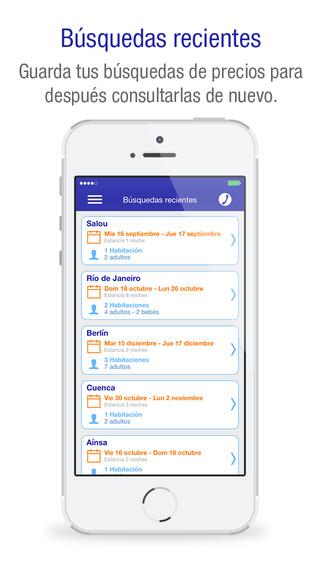 Novedades en la app de Centraldereservas.com