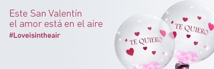 Regalo San Valentín viaje y globo te quiero
