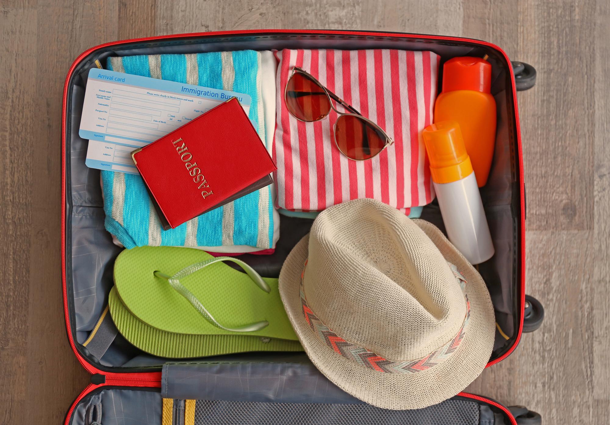 Maleta de viaje de verano