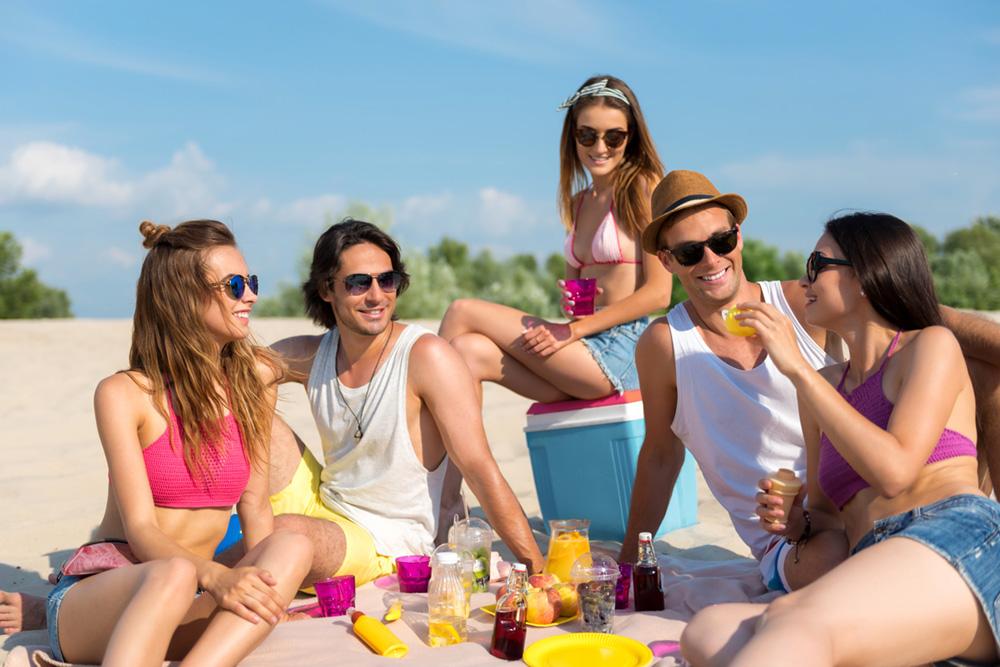 amigos adictos a la playa